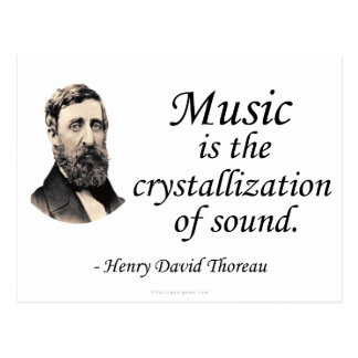 Thoreau en sonido y música postales