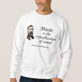 Thoreau en sonido y música sudadera