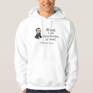 Thoreau en sonido y música sudaderas con capucha
