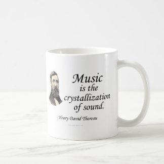 Thoreau en sonido y música taza