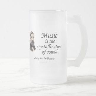 Thoreau en sonido y música taza de cristal