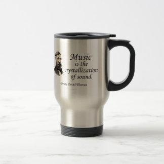 Thoreau en sonido y música taza térmica