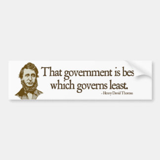 Thoreau Government Bumper Sticker