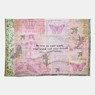 Thoreau Inspirational Friendshp quote  art Hand Towel