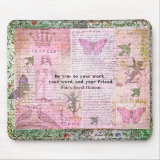 Thoreau Inspirational Friendshp quote  art Mouse Pad
