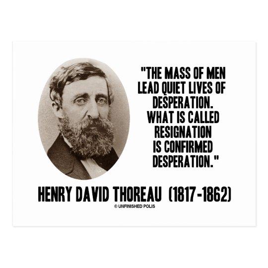 Thoreau Lead Quiet Lives Desperation Resignation Postcard