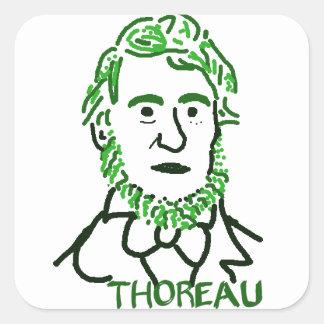Thoreau-ly Green Square Sticker