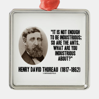 Thoreau no bastantes a ser industriosos es tan adorno cuadrado plateado