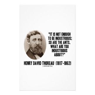 Thoreau no bastantes a ser industriosos es tan papeleria personalizada