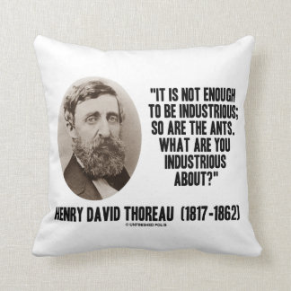 Thoreau Not Enough To Be Industrious So Are Ants Throw Pillow