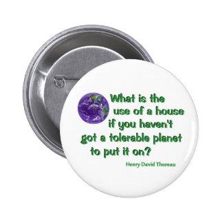 Thoreau on Conservation 2 Inch Round Button