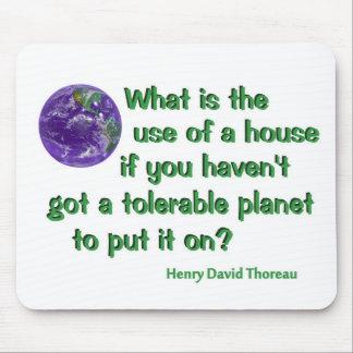 Thoreau on Conservation Mouse Pad