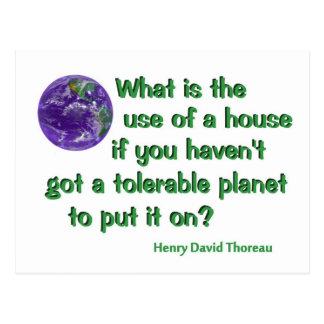 Thoreau on Conservation Postcard