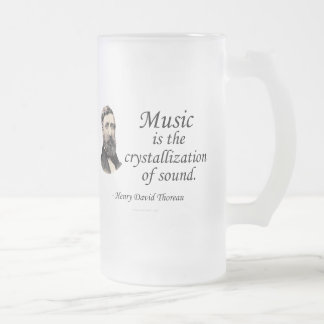 Thoreau on Sound and Music 16 Oz Frosted Glass Beer Mug