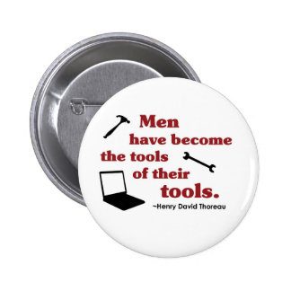 Thoreau on Tools 2 Inch Round Button