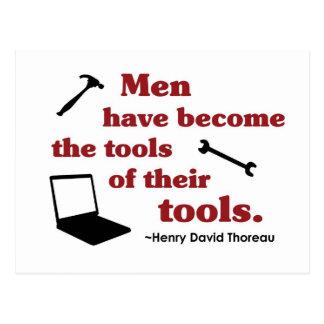 Thoreau on Tools Postcard