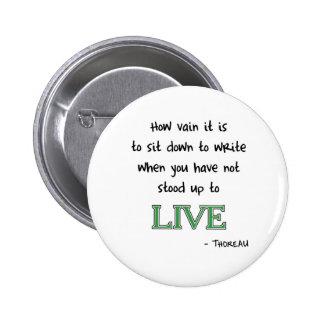 Thoreau on Writing 2 Inch Round Button