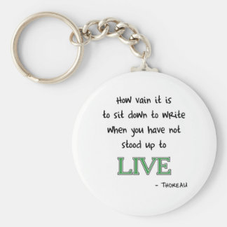 Thoreau on Writing Keychain