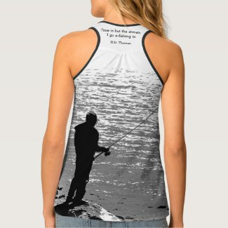 Thoreau Quotation Time is but the stream Tank Top