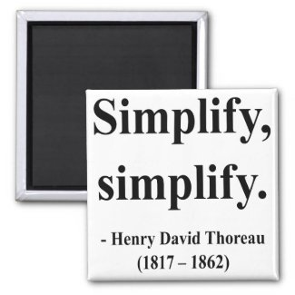 Thoreau Quote 1a magnet