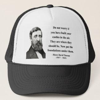 Thoreau Quote 2b Trucker Hat
