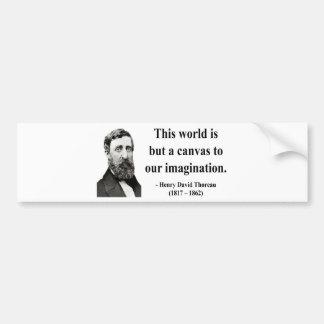 Thoreau Quote 3b Car Bumper Sticker