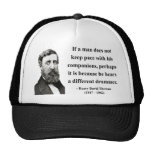 Thoreau Quote 4b Hat