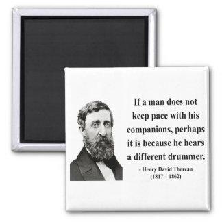 Thoreau Quote 4b Fridge Magnet