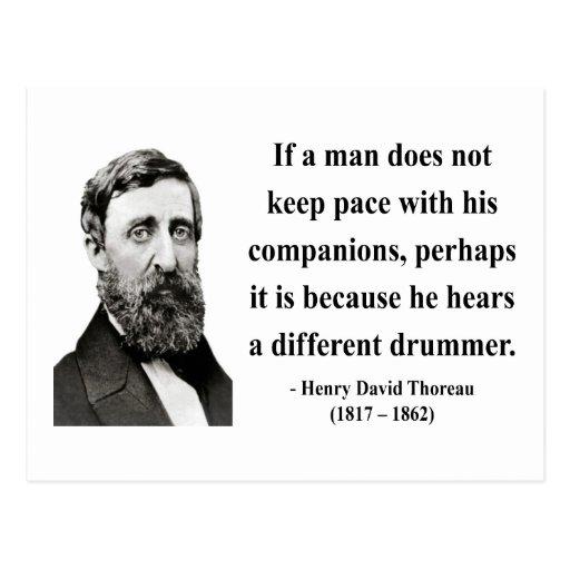 Thoreau Quote 4b Post Cards