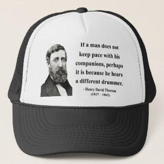 Thoreau Quote 4b Trucker Hat