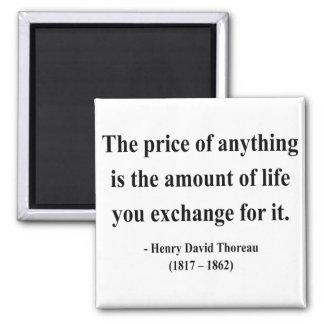 Thoreau Quote 6a 2 Inch Square Magnet