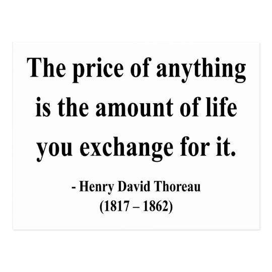 Thoreau Quote 6a Postcard