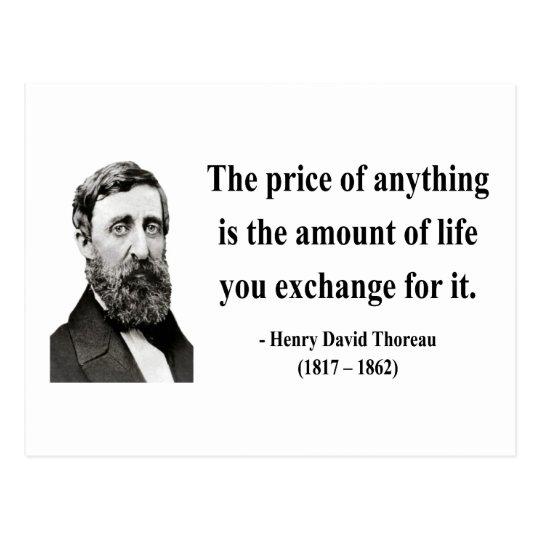 Thoreau Quote 6b Postcard