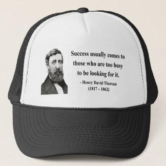 Thoreau Quote 7b Trucker Hat