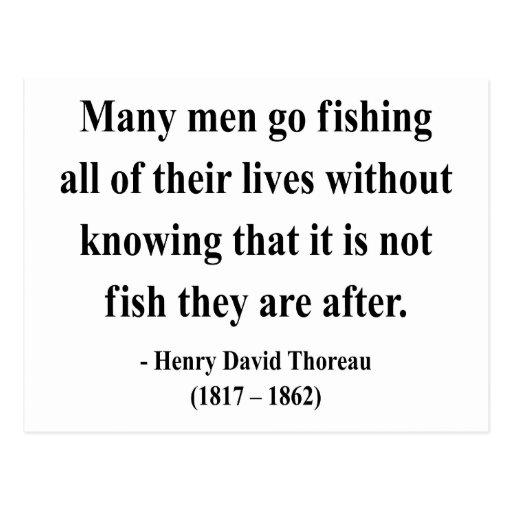 Thoreau Quote 8a Postcard