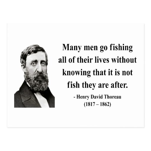 Thoreau Quote 8b Postcard