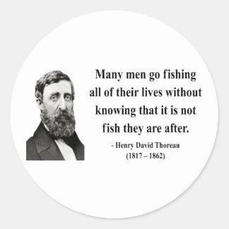 Thoreau Quote 8b Round Sticker