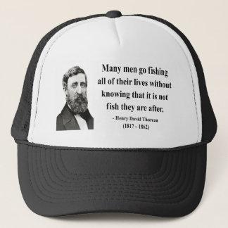 Thoreau Quote 8b Trucker Hat