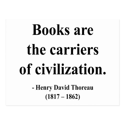 Thoreau Quote 9a Postcard