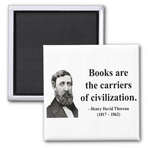 Thoreau Quote 9b 2 Inch Square Magnet