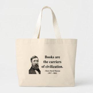 Thoreau Quote 9b Large Tote Bag