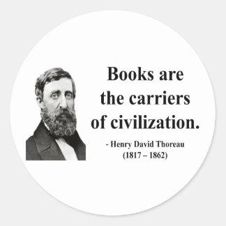 Thoreau Quote 9b Stickers