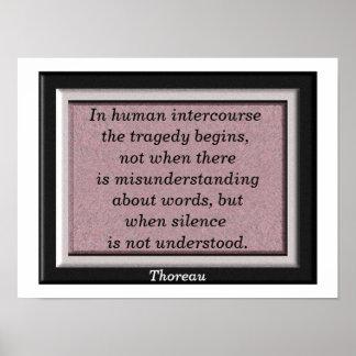 Thoreau quote - art poster