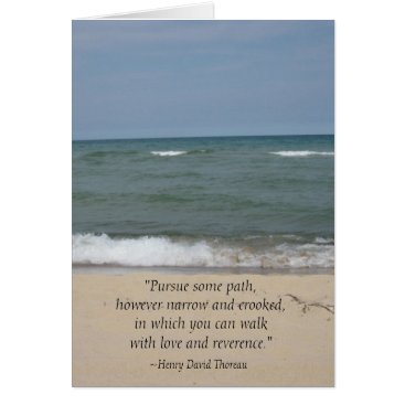 Beach Themed Thoreau Quote Beach Graduation Card