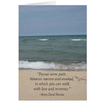Beach Themed Thoreau Quote Beach Graduation Card