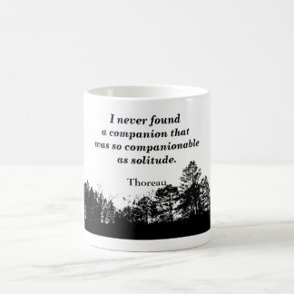 Thoreau quote - coffee mug