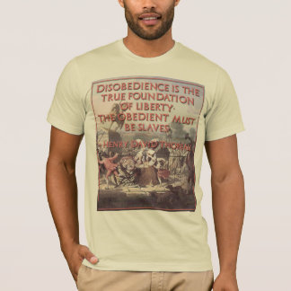 Thoreau Quote on Civil Disobedience T-Shirt