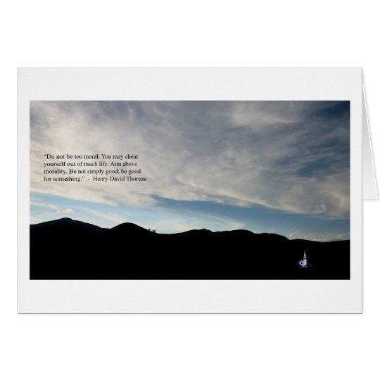 Thoreau Quote on Morality; Wonalancet Mindscape Card