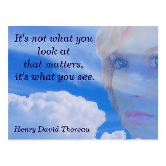 Thoreau quote - postcard