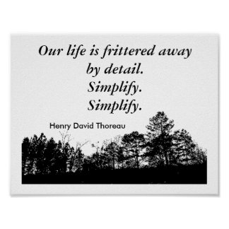 Thoreau quote - poster